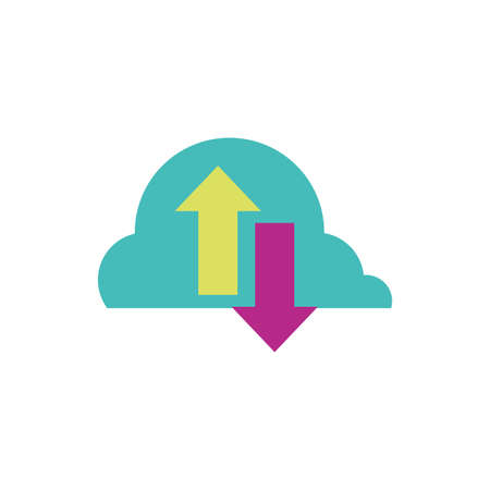 Cloud computing design, Communication internet connectivity web technology social media network and virtual theme Vector illustration 向量圖像