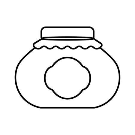 glass jar icon design, Eat food restaurant menu dinner lunch cooking and meal theme Vector illustration