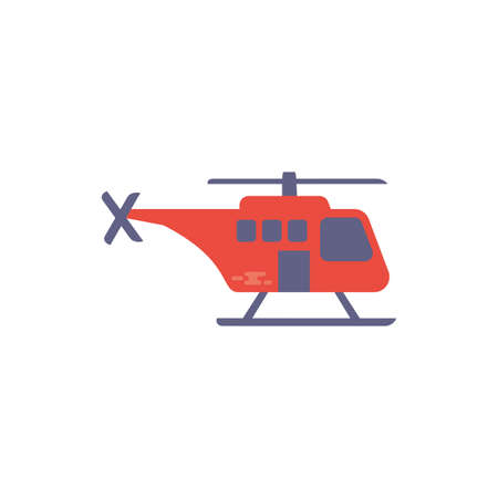 Ambulance helicopter design of Medical care health emergency aid exam clinic and patient theme Vector illustration