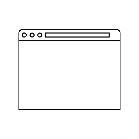 website browser cybersecurity data protection vector illustration outline
