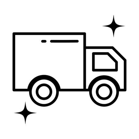 cargo transport truck , line style icon vector illustration design 向量圖像