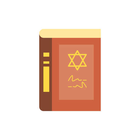 Jewish torah design, Hanukkah holiday celebration judaism religion festival traditional and culture theme Vector illustration