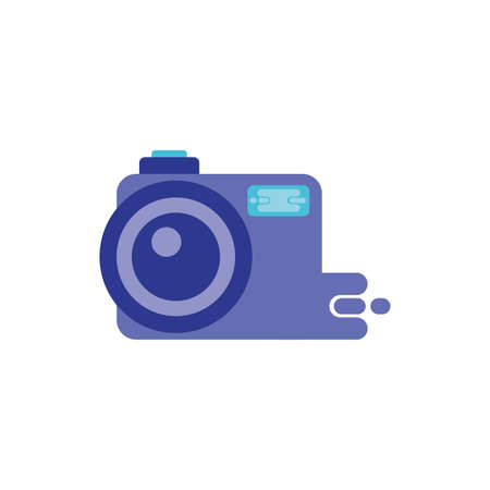 Camera device design, Gadget technology photography equipment digital photo focus and electronic theme Vector illustration Banque d'images - 143508326
