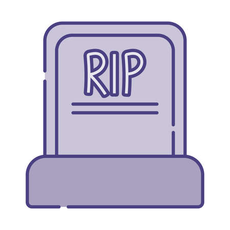 rip grave flat style icon design, Religion culture belief religious faith god spiritual meditation and traditional theme Vector illustration 向量圖像