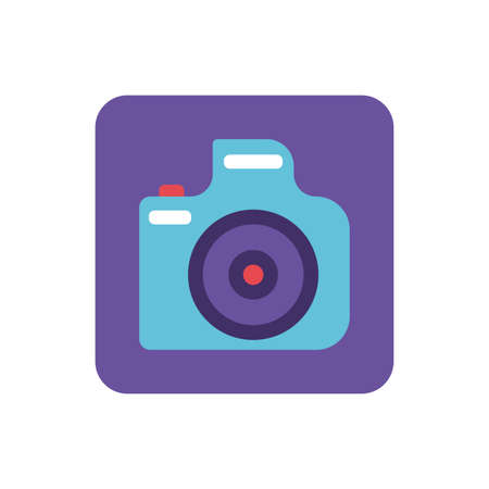 photographic camera on white background vector illustration design Banque d'images - 143529304