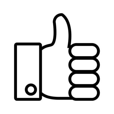 approval hands in white background vector illustration design