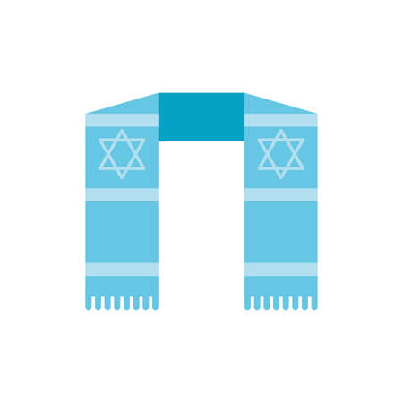 Jewish scarf design, Hanukkah holiday celebration judaism religion festival traditional and culture theme Vector illustration