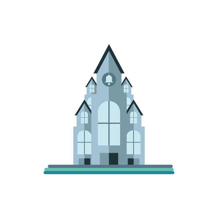 catholic church on white background vector illustration design 向量圖像