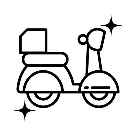 motorcycle service, order, shipping, fast and free transport vector illustration design Foto de archivo - 143566039