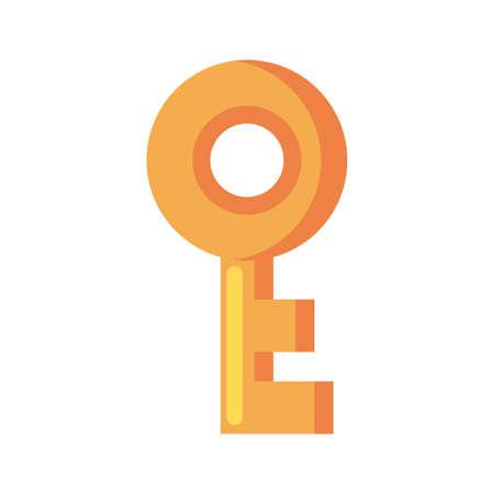 door key on white background vector illustration design