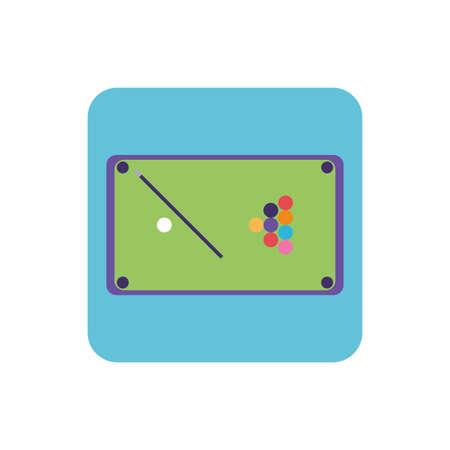pool table in white background vector illustration design Illustration