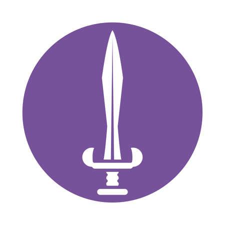 iron dagger , silhouette style icon vector illustration design 向量圖像