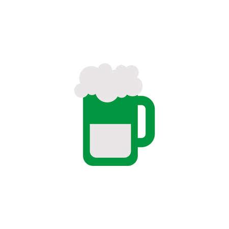 mug of beer, flat style icon vector illustration design