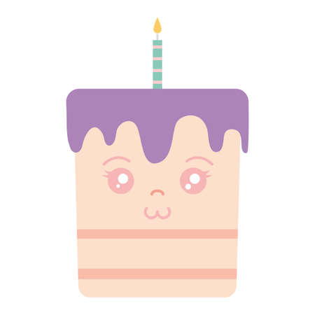 sweet birthday cake with candles vector illustration design Ilustracja