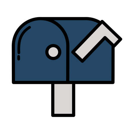 mail postbox on white background vector illustration design 向量圖像