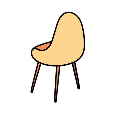 comfortable chair in white background vector illustration design