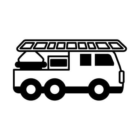 fire truck on white background vector illustration design