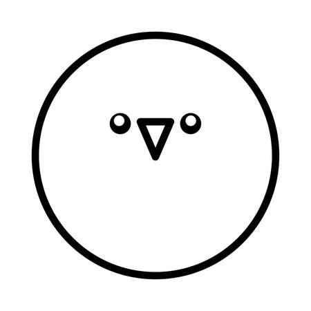 round chick on white background vector illustration design