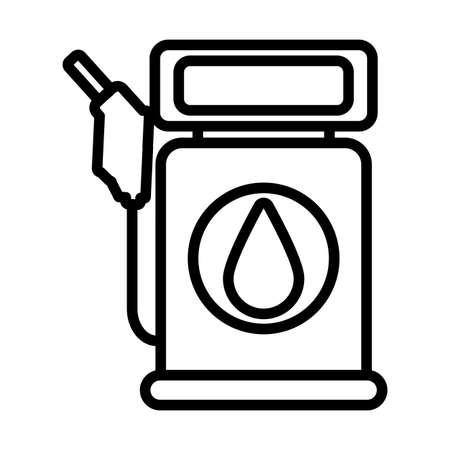 petrol dispenser , line style icon vector illustration design 向量圖像