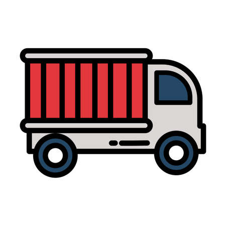 cargo transport truck on white background vector illustration design