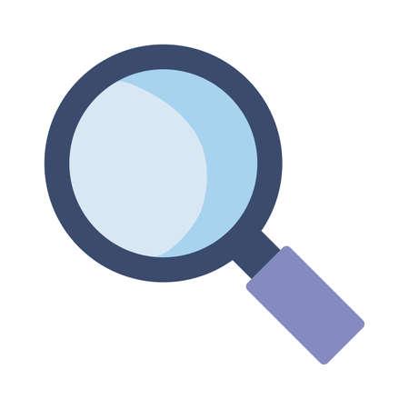 magnifying glass lens on white background vector illustration design