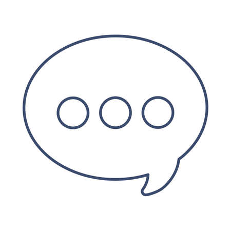 speech bubble , line style icon vector illustration design