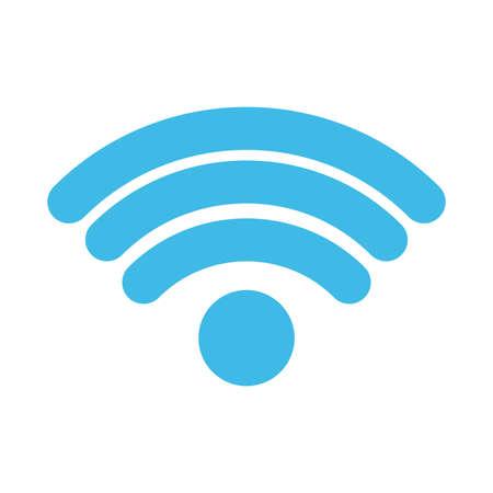 wireless symbol on white background vector illustration design