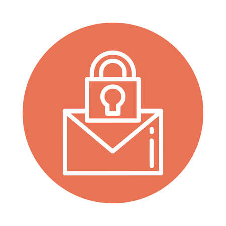 letter with padlock, block and flat style icon vector illustration design