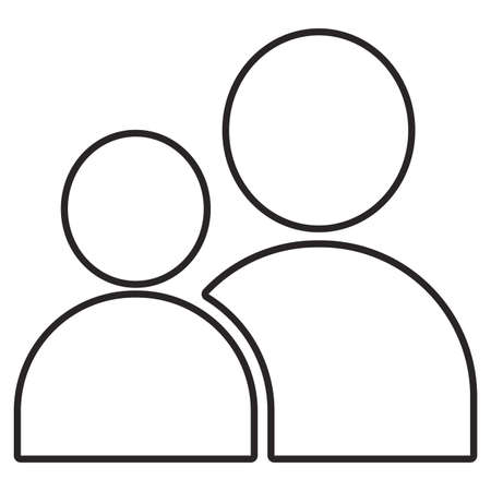 default men heads icon over white background, vector illustration  イラスト・ベクター素材