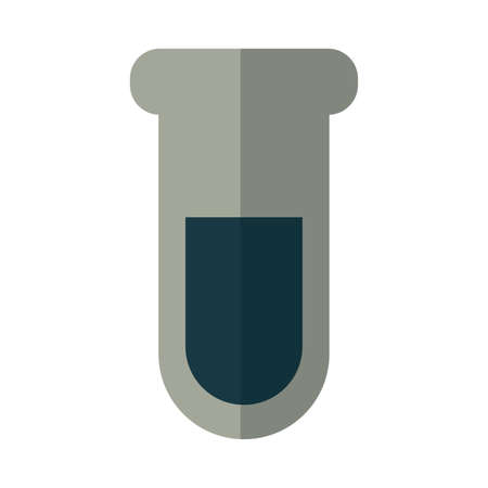test tube with oil with white background vector illustration design