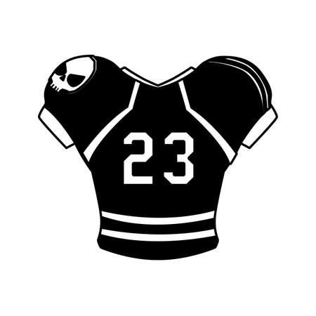 american football jersey, t-shirt sport on white background vector illustration design
