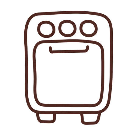 stove with oven, line style icon vector illustration design 向量圖像