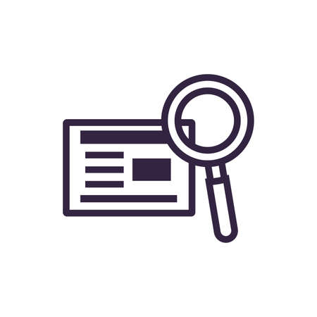 search magnifying glass with document vector illustration design