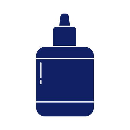 glue bottle, silhouette style icon vector illustration design