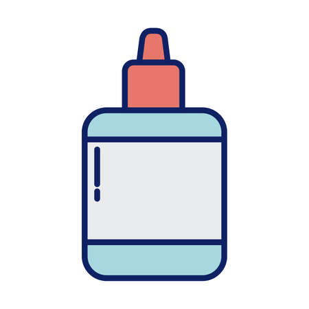 glue bottle, line and fill style icon vector illustration design