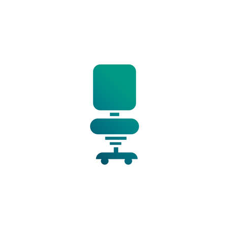 office chair, gradient style icon vector illustration design