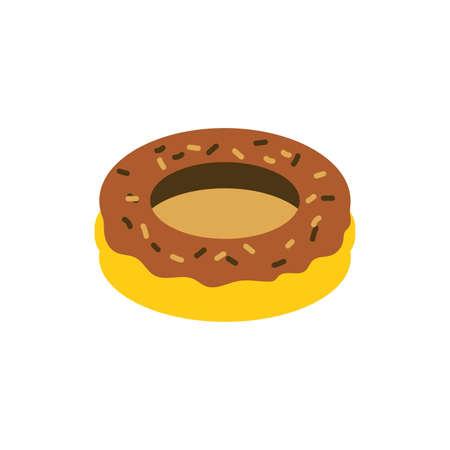 Sweet donut design, dessert food delicious sugar snack and tasty theme Vector illustration Illustration