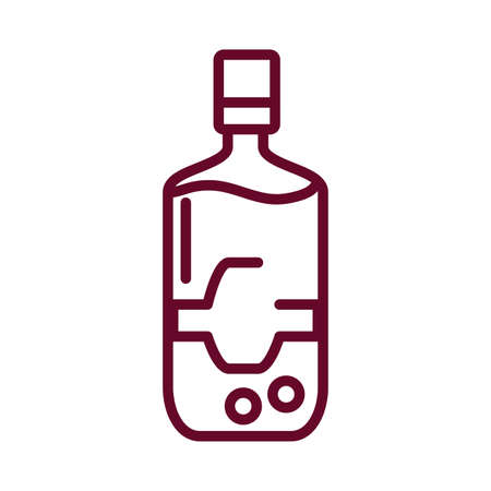 drink bottle icon over white background, line style icon, vector illustration