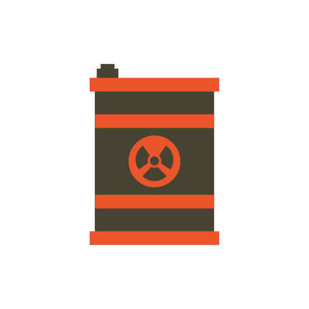 Industrial biohazard barrel design, Pollution factory environment dirty danger industry plant chemical and toxic theme Vector illustration