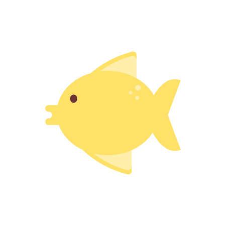 Fish animal design Sea life ecosystem fauna ocean underwater water nature marine tropical theme Vector illustration