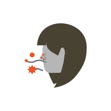 Man head with virus design, Pollution factory environment dirty danger industry plant chemical and toxic theme Vector illustration Banque d'images - 144080377