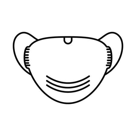 medical mask, line style icon vector illustration design