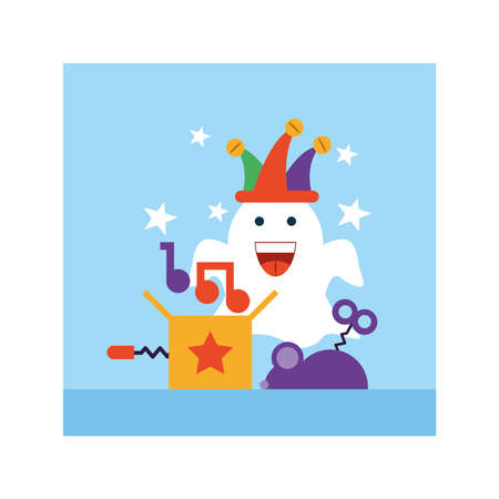 april fools day, humorous party vector illustration design