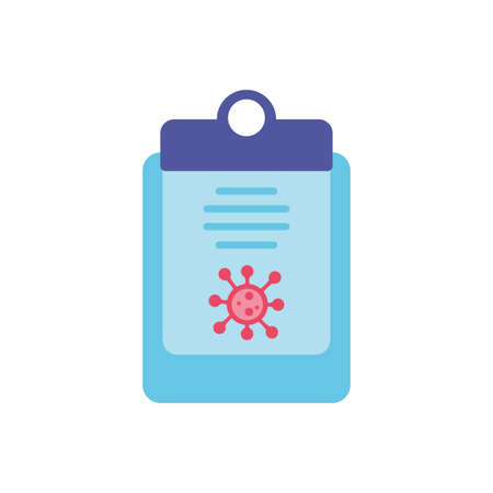 medical sickness report over white background, flat style icon, vector illustration