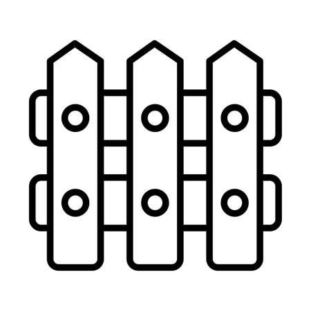 gardening fence , line style icon vector illustration design 벡터 (일러스트)