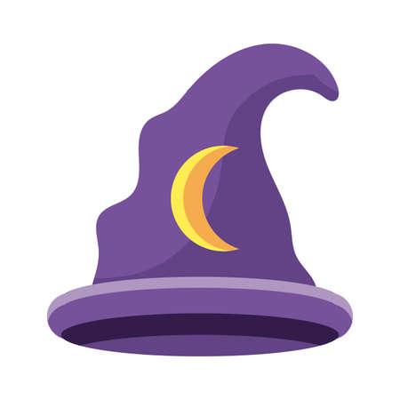 wizard hat on white background vector illustration design