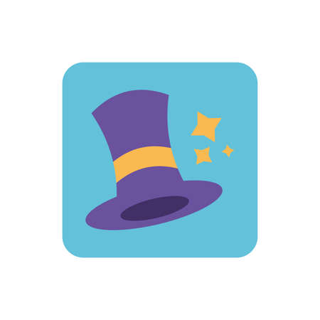 wizard hat with on white background vector illustration design 向量圖像