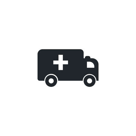 ambulance car, silhouette style icon vector illustration design