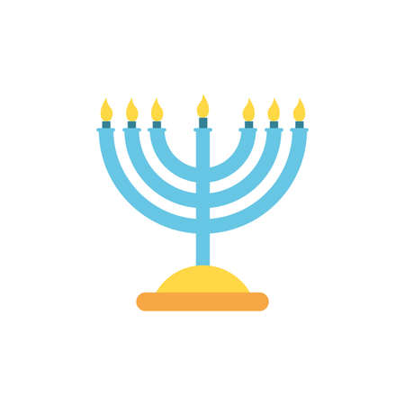 Jewish menorah design, Hanukkah holiday celebration judaism religion festival traditional and culture theme Vector illustration