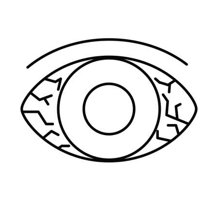 scared eyes, line style icon vector illustration design